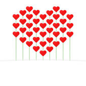ημέρα του αγίου βαλεντίνου κάρτα με μια καρδιά από πολλές καρδιές — Διανυσματικό Αρχείο