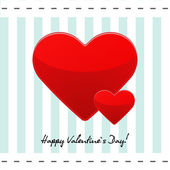 Valentines Day postcard with red hearts — Stockvektor