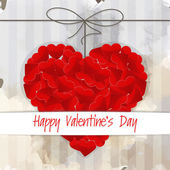 Valentine card with cute background — Stockvektor