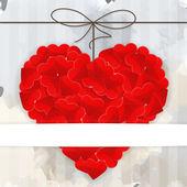 Plantilla de tarjeta con gran corazón rojo — Vector de stock