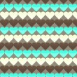 Seamless pattern with many cute yellow brown and cyan hearts on — Stock Vector