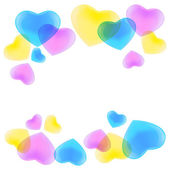 Pattern with CMYK hearts — Stock Vector