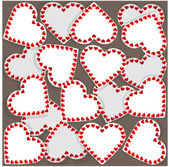 Pattern with many small hearts — Stock Vector