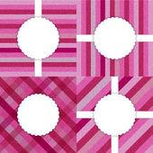 Serie di carte rosa spogliato jeans modello — Vettoriale Stock