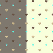 Seamless heart pattern two colors — Stok Vektör