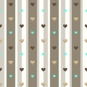 Seamless hearts pattern with strips — Vecteur