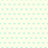 Seamless pattern cyan hearts on a yellow background — ストックベクタ