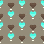 Seamless pattern with many colorful hearts — Stockvektor