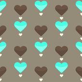 Modèle sans couture avec beaucoup de cœurs colorés — Vecteur