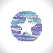 Star with white background — Stock Vector