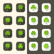 Clover icon set — Stock Vector