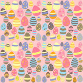 Eastern pink seamless texture with eggs — Vector de stock