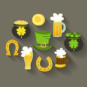 St Patrick Day icons — Stock Vector
