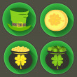 St Patrick Day four icons — Stock Vector #42116391