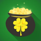 St Patrick Day gold money icon — Stock Vector