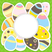Easter eggs pattern on a green — Stock Vector