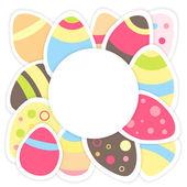 在一张白纸的复活节蛋模式 — 图库矢量图片