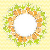 Easter carrots pattern on a yellow — Stock Vector