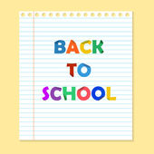 Back to school paper with lines — Stock Vector