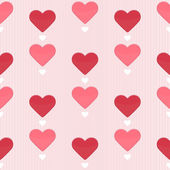 Seamless pattern with sweet hearts — Stock Vector