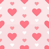 Seamless hearts pattern red and pink — Stock Vector