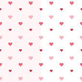 Seamless heart pattern two pink colours — Stock Vector