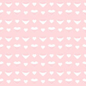 Seamless pattern cute white hearts on a pink — Stock Vector