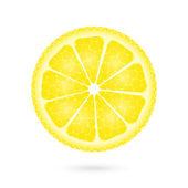 лимон на белый значок — Cтоковый вектор