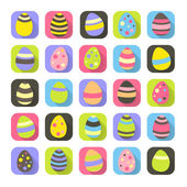 Colorful Easter symbols set eggs icons — Vetorial Stock