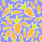 Seamless pattern orange carrots on a purple — Vector de stock