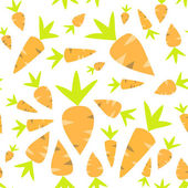 Seamless pattern orange carrots on a white — Stockvektor