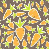 Seamless pattern orange carrots on a brown — Stockvektor