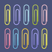 Colorful paperclip icons — Stock Vector