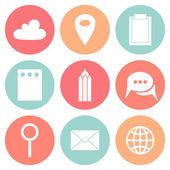 Business Flat circle icons — Vector de stock