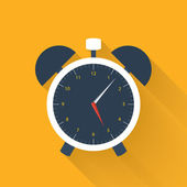 White alarm clock icon on a orange — Vettoriale Stock