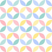 Colorful geometric circle seamless pattern — Stock Vector