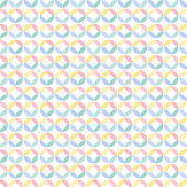 Colorful many geometric circle seamless pattern — Stock vektor