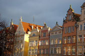 Colorful houses in Gdansk — Stock Photo