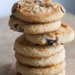 Stock Photo: Chocolate chip cookies stack