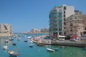 Spinola bay. St. Julian's, Slima, Malta — Stock Photo