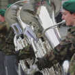 Stock Photo: Musiciof youth military orchestra. Bern, Switzerland