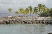 Beach of Puent-du-But (Pointe du Bout). Martinique — Stock Photo