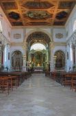 Interno del tempio, Cattedrale di saint georgy. Pirano, slovenia — Foto Stock