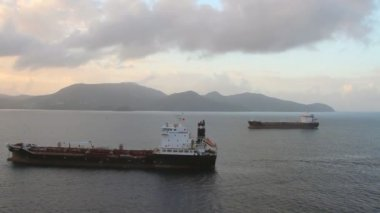 Cargo vessels on raid. Fort-de-France, Martinique — Stock Video