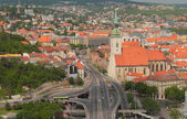 Road and transport outcome and Saint Martin's Cathedral. Bratislava, Slovakia — Stock Photo