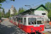 Gear tram No.60, final stop - Secheni's mountain. Budapest, Hungary — Stock Photo