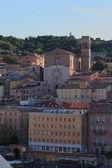 City and Saint Francesco of Scale church. Ancona, Italy — Stockfoto