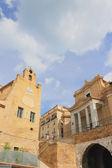 Clock tower of palace of Antsiani and Christ's church. Ancona, Italy — Stock Photo