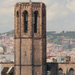 Belltower of cathedral of Santa-Maria-del-Pi. Barcelona, Spain — Stock Photo #47489811