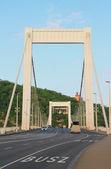 Road and arches, Elizabeth Bridge. Budapest, Hungary — Stock Photo
